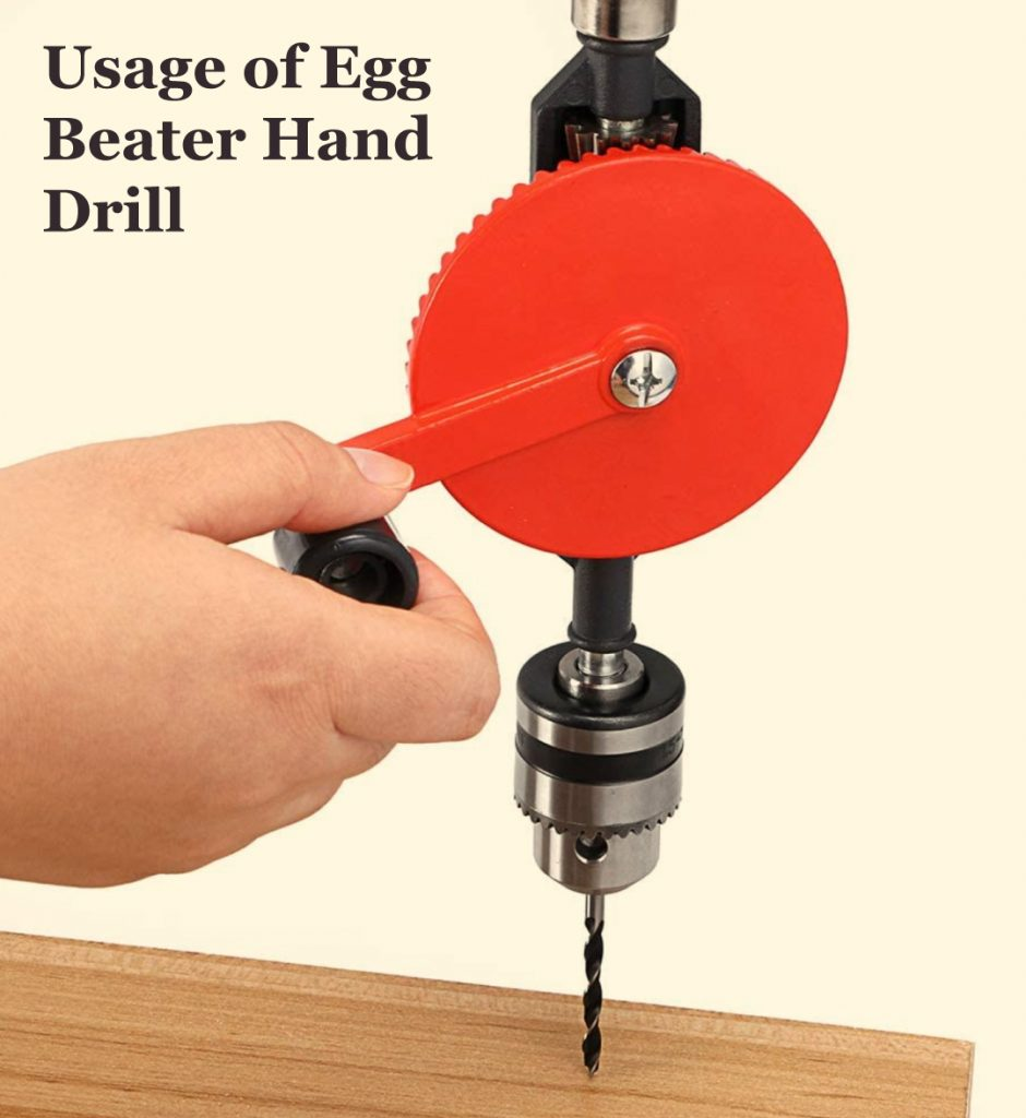 Egg Beater Hand Drill for drilling into wood wood