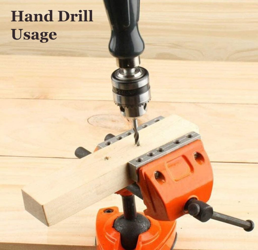 Simple Hand Drill with Chuck for drilling into wood wood