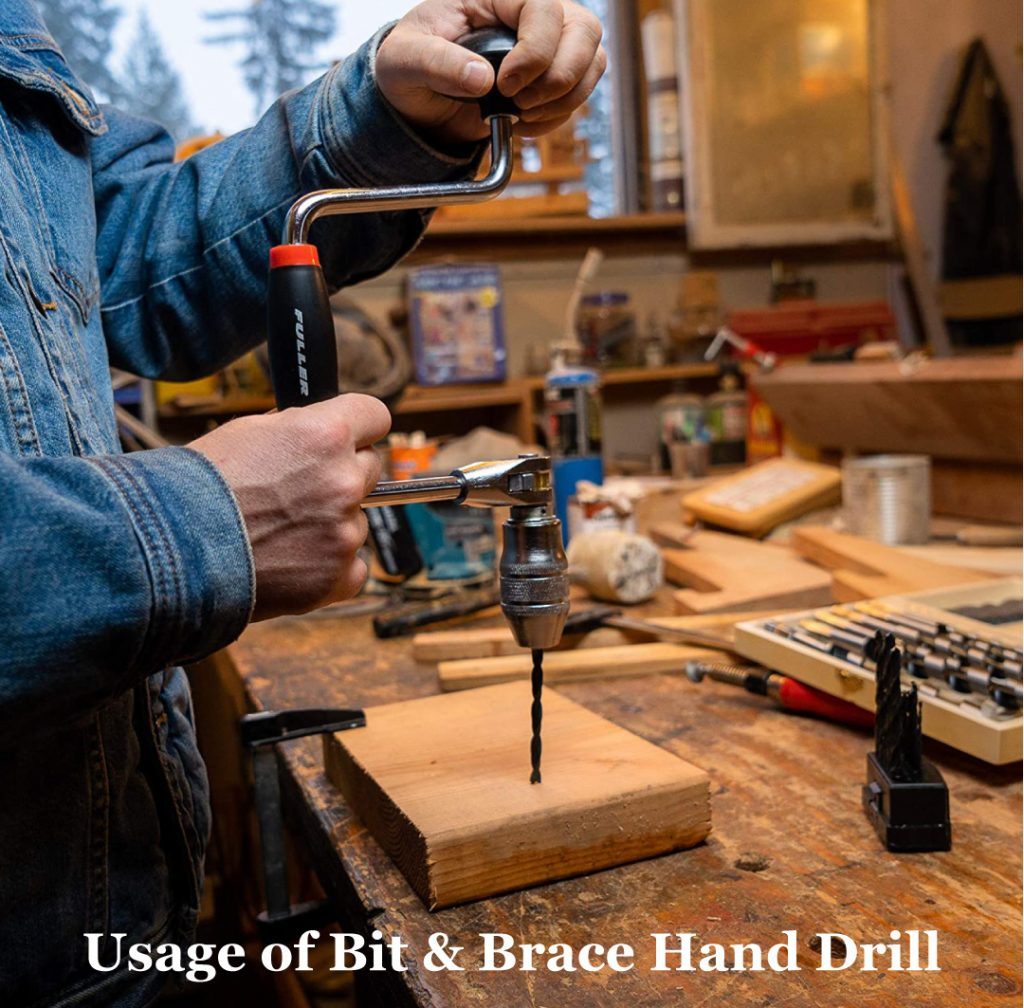 Bit Brace Hand Drill for drilling into wood wood