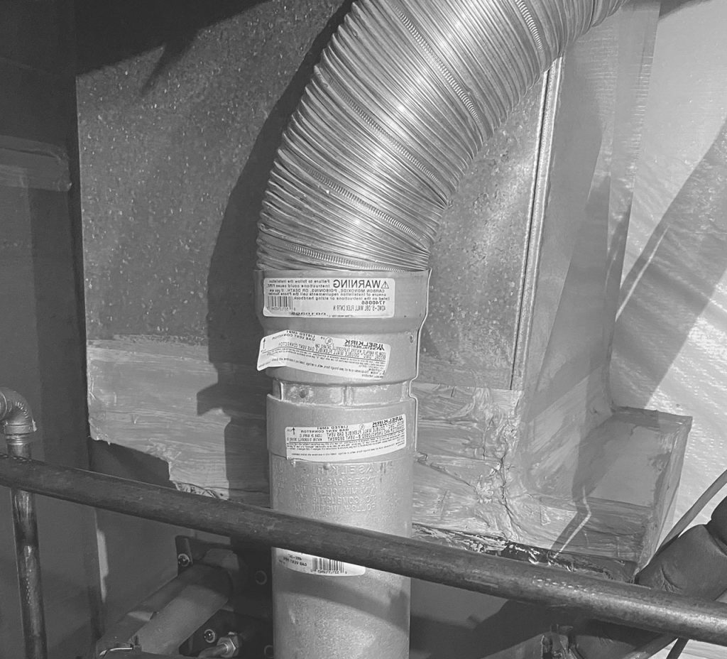 Duct length effect for a range vent