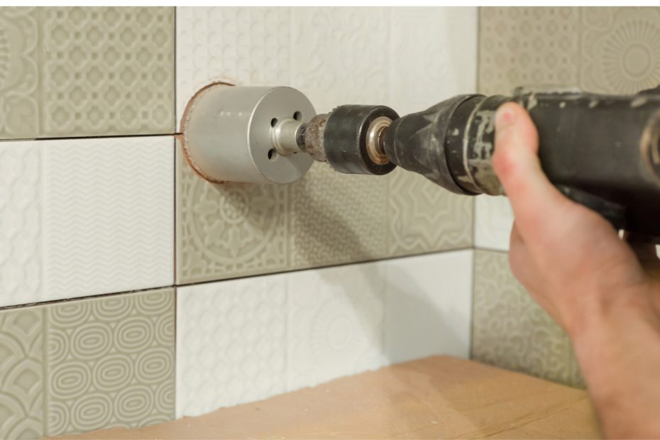 How to drill into tile?