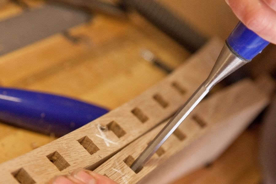 drill a square hole in wood